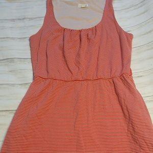 Maison jules red&white striped sleeveless  dress